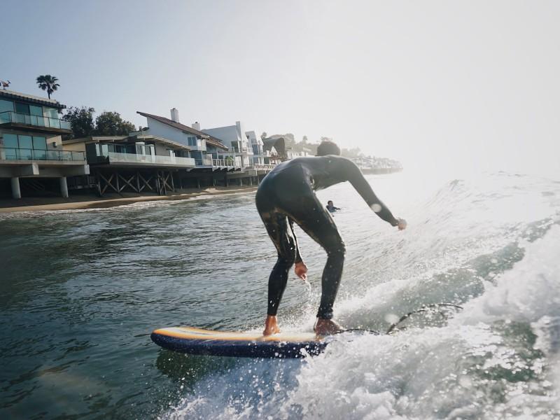 surfing malibu