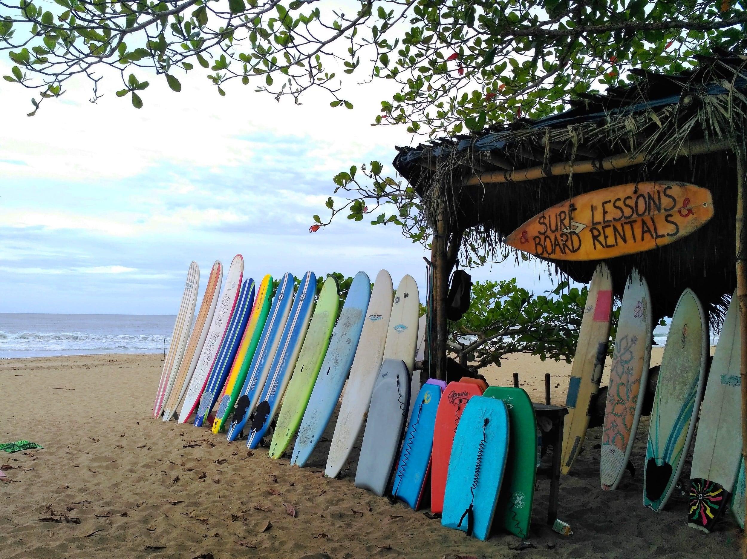 surfboard hire in Santa Teresa costa rica